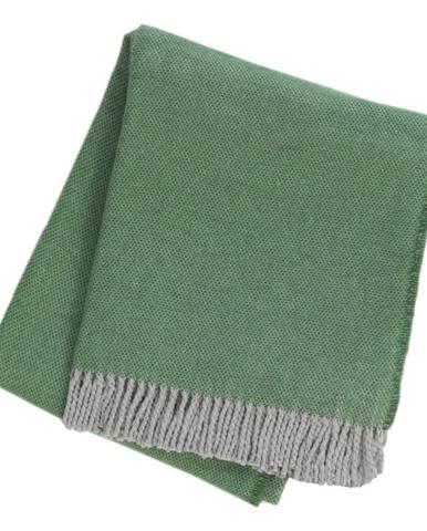 Zelený pléd s podielom bavlny Euromant Jade, 140 x 160 cm