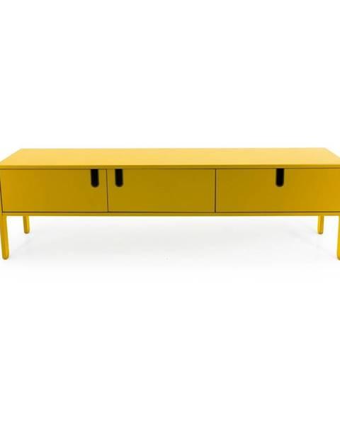 Tenzo Žltá nízka komoda Tenzo Uno, šírka 171 cm