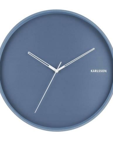 Modré nástenné hodiny Karlsson Hue, ø 40 cm