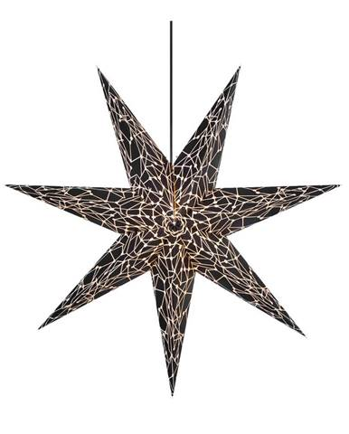 Čierna svetelná dekorácia Markslöjd Karla, ø75cm