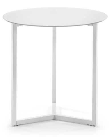 Biely odkladací stolík La Forma Marae, ⌀50cm