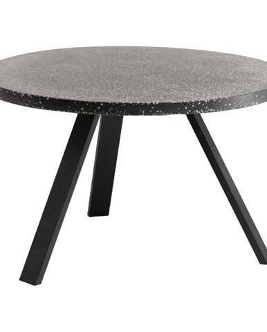 Čierny jedálenský stôl La Forma Shanelle, ⌀ 120 cm
