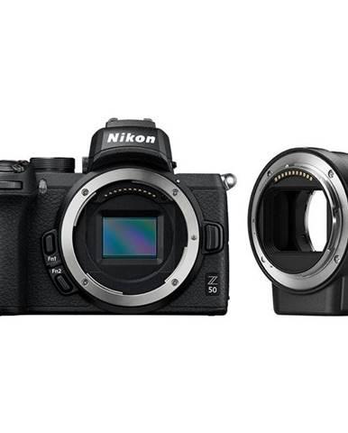Digitálny fotoaparát Nikon Z50 + adaptér bajonetu FTZ čierny