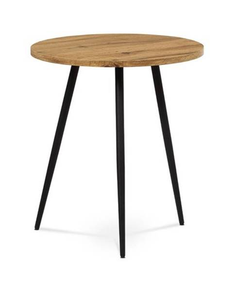 Sconto Prístavný stolík LUGO divoký dub/čierna