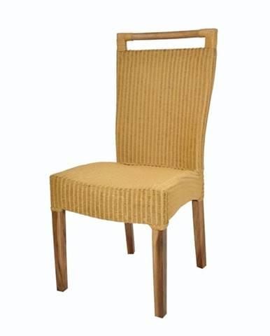 Jedálenská stolička CALLISTA žltohnedá