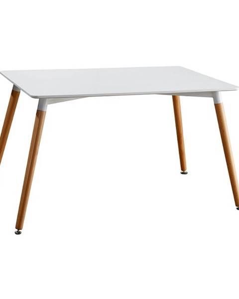 Kondela Jedálenský stôl biela/buk DIDIER 4 NEW