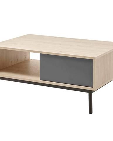 Konferenčný stolík dub jaskson hickory/grafit BERGEN BL104
