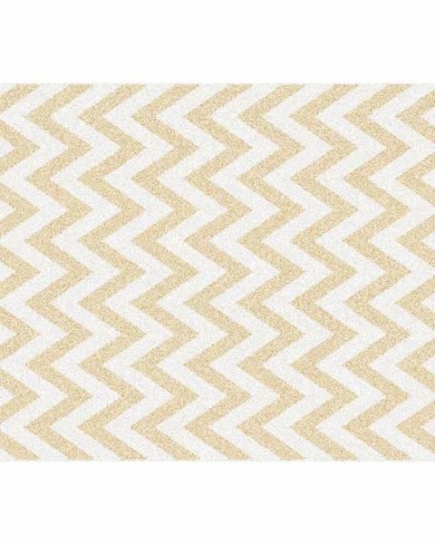 Kondela Koberec béžovo-biela vzor 133x190 ADISA TYP 2