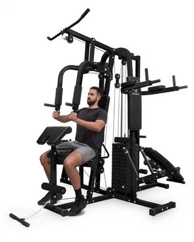 KLARFIT Ultimate Gym 9000, 7 staníc, do 150 kg, QR oceľ, čierna