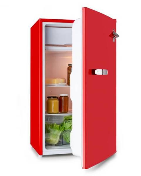 Klarstein Klarstein Beercracker 90L, chladnička, energetická trieda A+, mraziaci box, otvárač na fľaše, červená