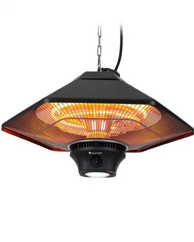 Blumfeldt Heat Hexa, infračervený ohrievač, 800/1200/2000 W, halogén, IP34, LED, čierny