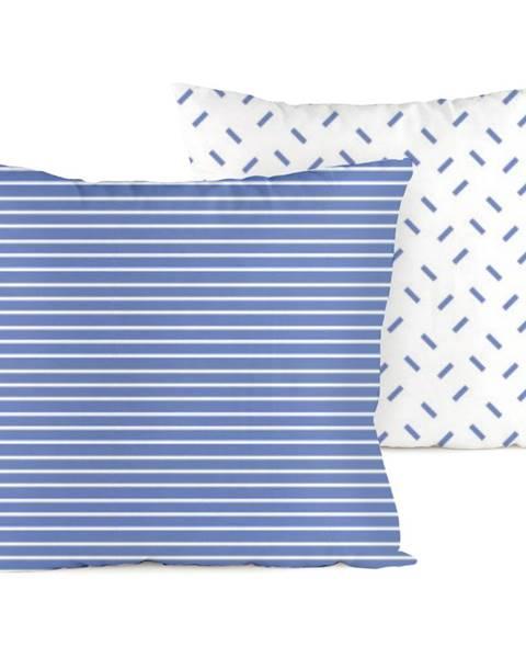 4Home 4home Obliečka na vankúšik Pruhy modrá, 40 x 40 cm