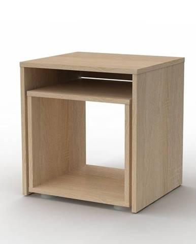 Prístavný stolík DUO sada 2 ks, dub sonoma