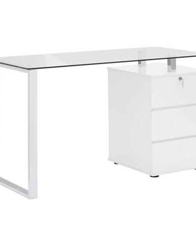 Písací stôl XINGU kov/biela