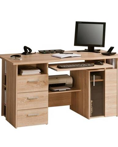 Pracovný stôl BECKETT dub sonoma