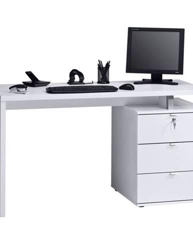 Pracovný stôl EMERSON biela