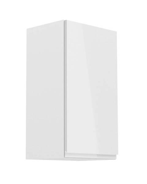 Kondela Horná skrinka biela/biely extra vysoký lesk pravá AURORA G40