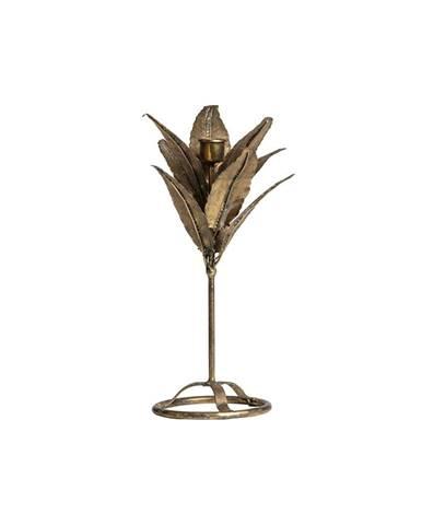 Svietnik v tvare listov v zlatej farbe BePureHome, výška 32 cm