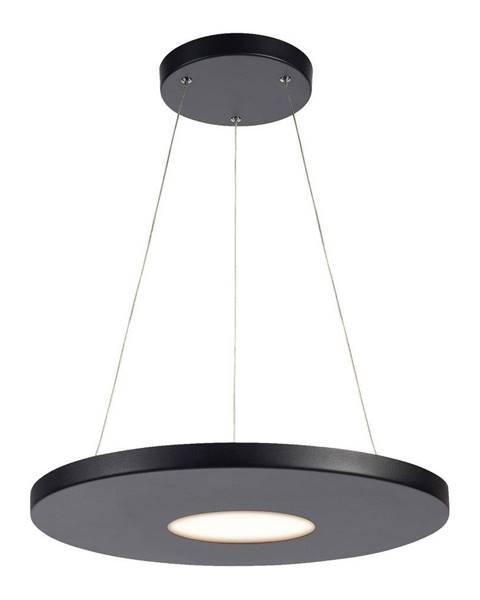 Markslöjd Čierne závesné svietidlo Markslöjd Plate, ø 50 cm