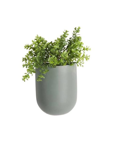 PT LIVING Matne zelený nástenný keramický kvetináč PT LIVING Oval