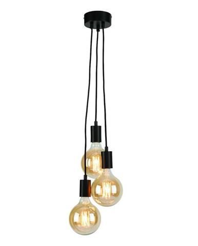 Čierne závesné svietidlo Citylights Olso Triple