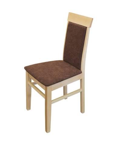 Jedálenská stolička OLI buk/tmavo hnedá