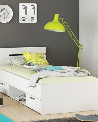 Multifunkčná posteľ 90x200 MICHIGAN perleťovo biela