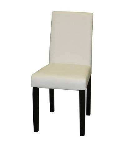 Stolička PRIMA biela/hnedá 3036