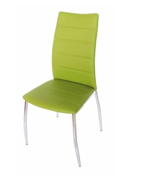 Kondela Tempo Kondela Jedálenská stolička DELA / zelená