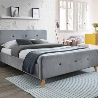 Signal Manželská posteľ MALMO Velvet