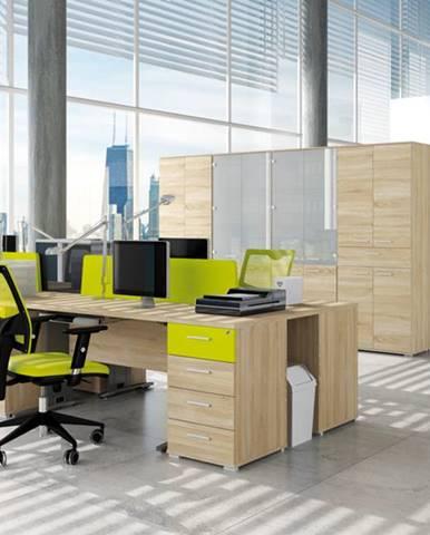 MLnábytok Kancelársky stôl OPTIMAL 16 / sonoma svetlá