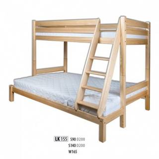 Drewmax Poschodová posteľ LK155