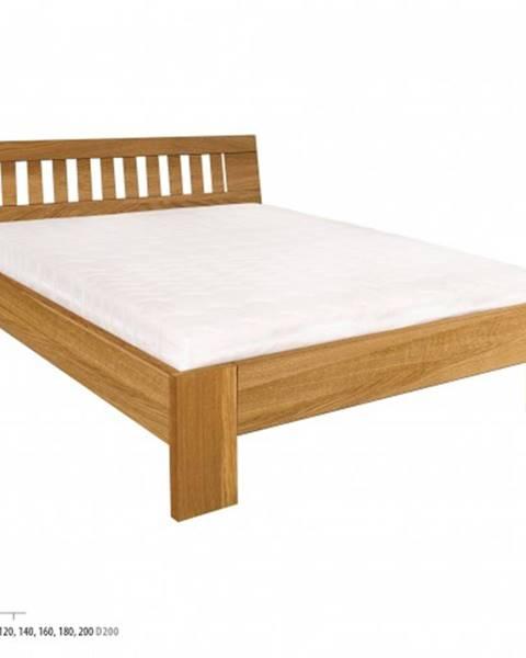Drewmax Drewmax Jednolôžková posteľ - masív LK293 | 120 cm dub