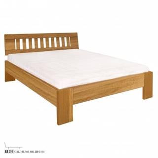 Drewmax Jednolôžková posteľ - masív LK293 | 120 cm dub