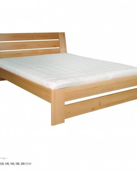 Drewmax Drewmax Manželská posteľ - masív LK192   160 cm buk