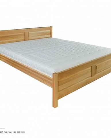 Drewmax Manželská posteľ - masív LK109   180 cm buk