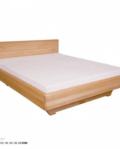 Drewmax Manželská posteľ - masív LK110   160 cm buk