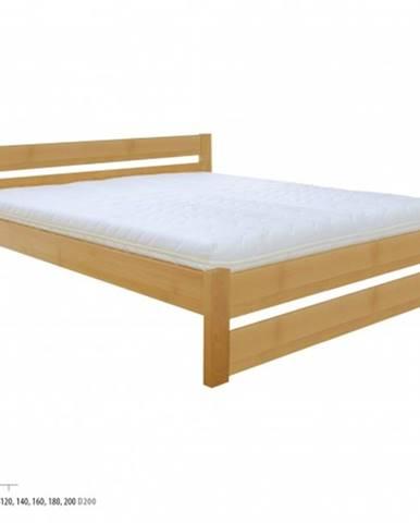 Drewmax Manželská posteľ - masív LK190 | 160 cm buk