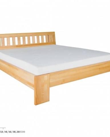 Drewmax Manželská posteľ - masív LK193 | 140 cm buk