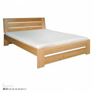 Drewmax Manželská posteľ - masív LK192   160 cm buk