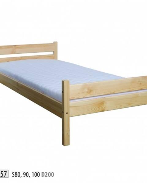 Drewmax Drewmax Jednolôžková posteľ - masív LK157 | 80 cm borovica