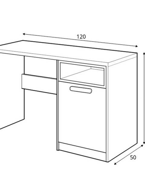 Dig-net nábytok Dig-net nábytok Písací stôl Pok PO-09