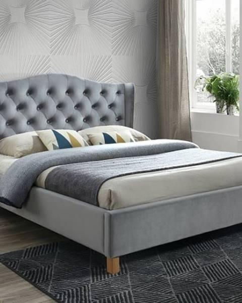 Signal Signal Manželská posteľ ASPEN VELVET 180x200 SIGNAL - spálňový nábytok