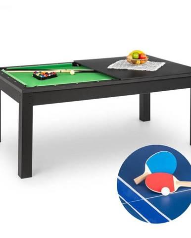 OneConcept Liverpool, 3-v-1, hrací stôl, 7' biliardový stôl, stôl stolný tenis, jedálenský stôl, čierny