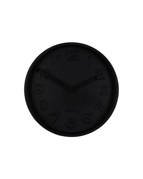 Zuiver Čierne betónové nástenné hodiny s čiernymi ručičkami Zuiver Concrete