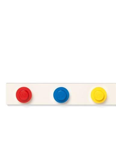 Nástenný vešiak v červenej, modrej a žltej farbe LEGO®