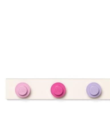 Nástenný vešiak vo svetloružovej, tmavoružovej, tmavosivej farbe LEGO®