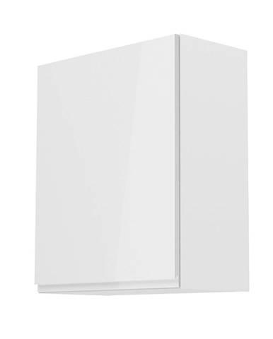 Horná skrinka biela/biely extra vysoký lesk ľavá AURORA G601F