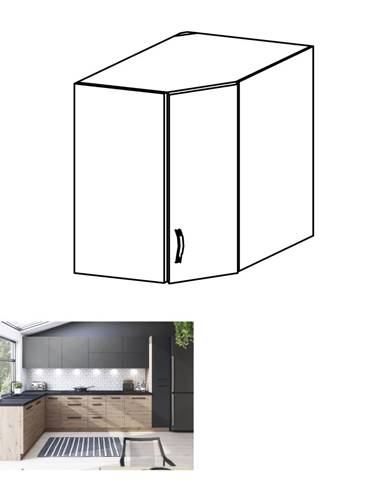 Horná skrinka dub artisan/sivý mat LANGEN G60N