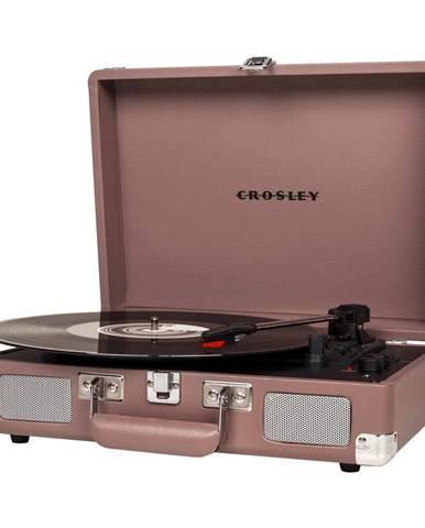 Gramofón v ružovej farbe Crosley Cruiser Deluxe